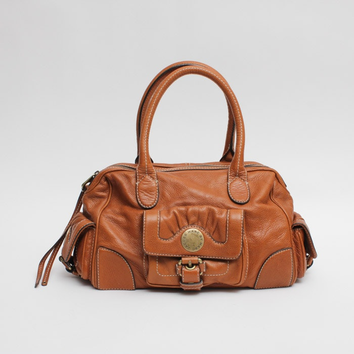 Marc by Marc Jacobs Leather Satchel in Cognac