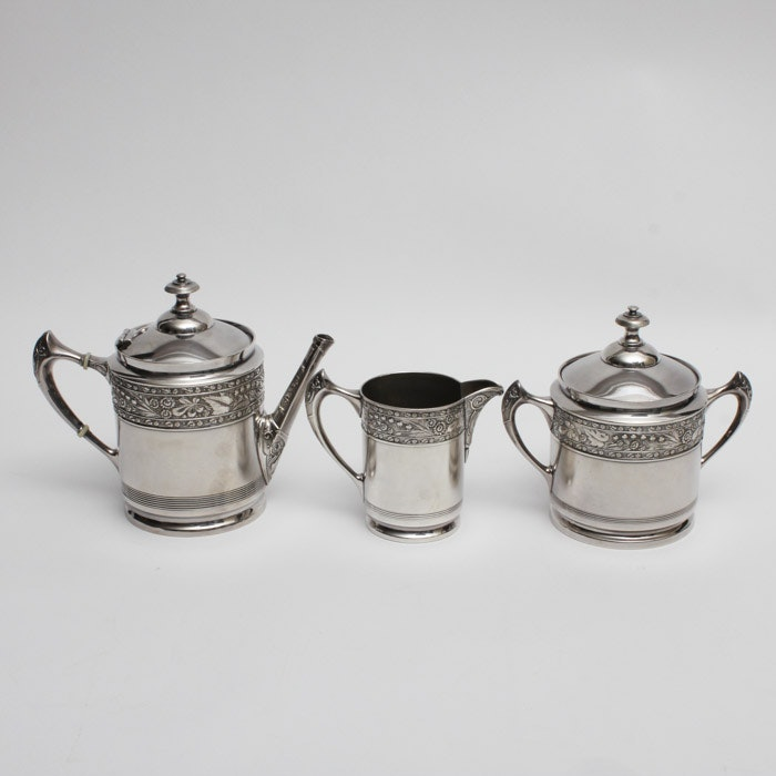 Middletown Plate Co. Quadruple Plate Tea Service