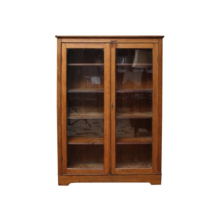 Antique Larkin Soap Co. Oak Display Cabinet