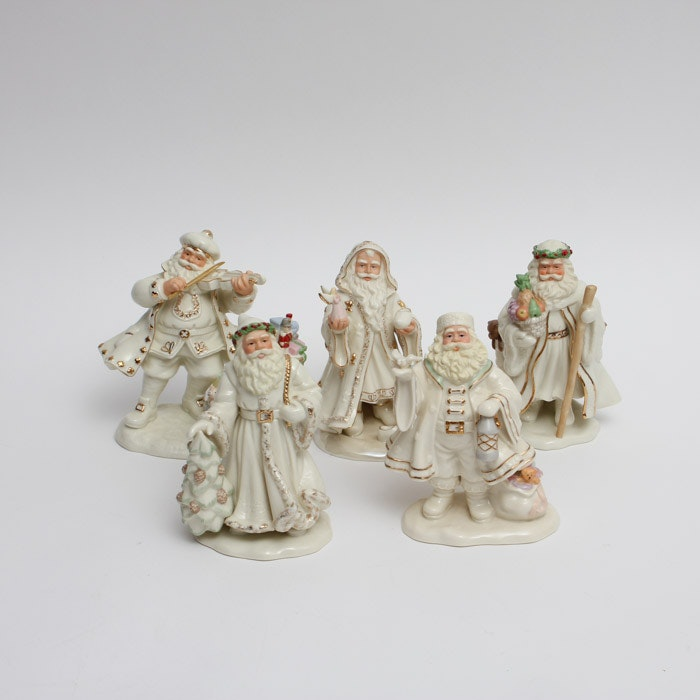 Collection of Lenox Classic Santa Claus Figurines