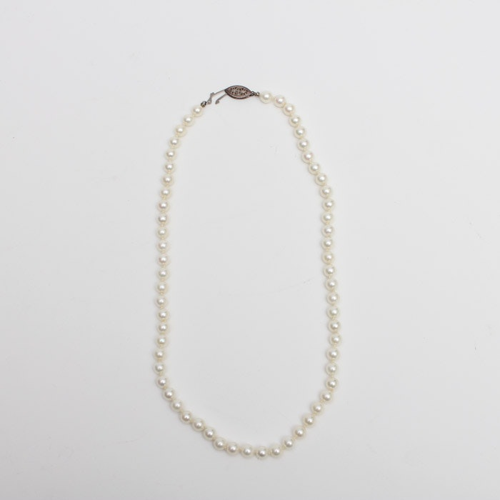 Hand-Knotted Cultured Pearl Necklace