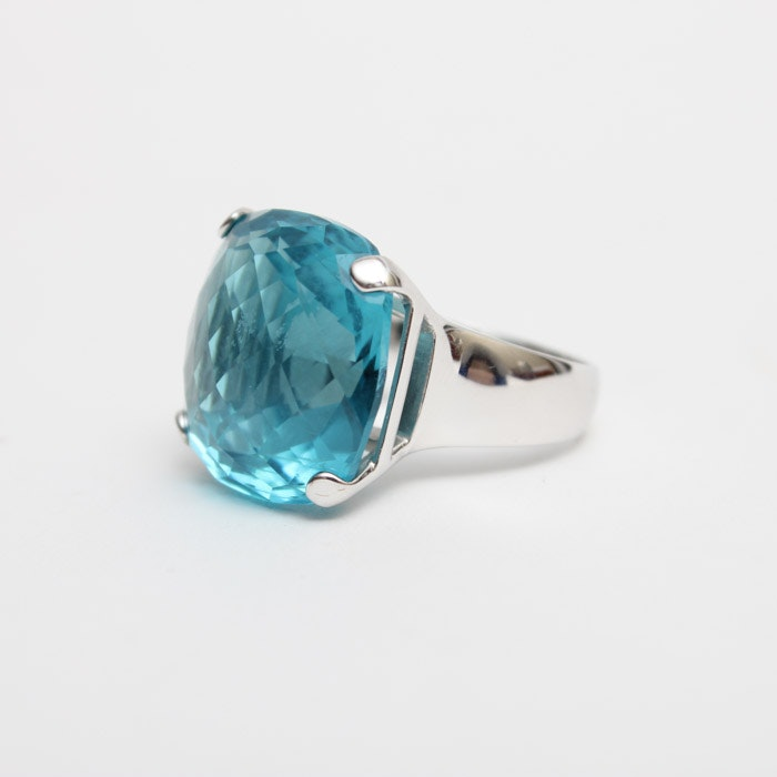 Swarovski Blue Crystal Ring
