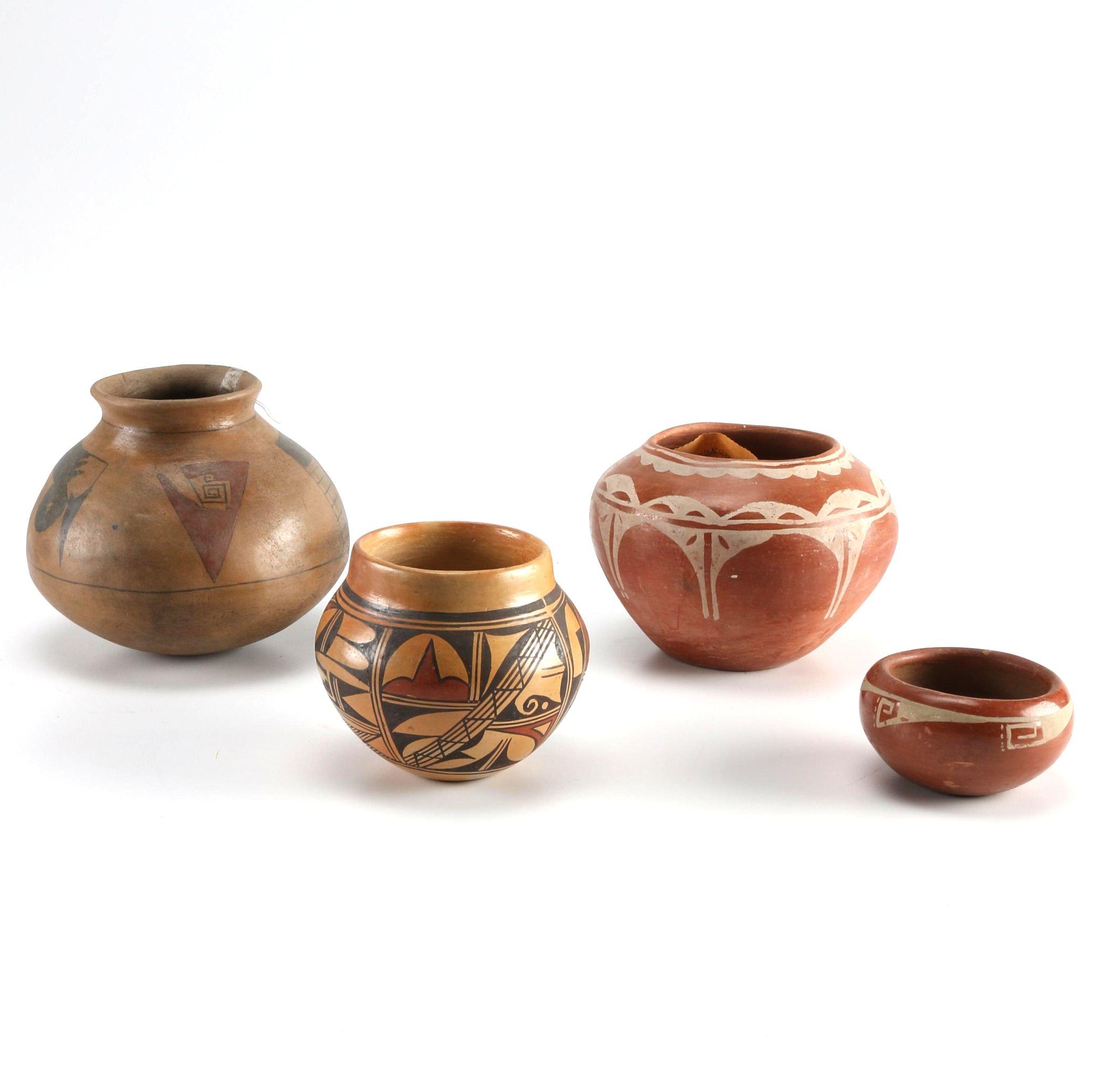 Olive Toney Hopi Bowl and Pueblo Style Pottery