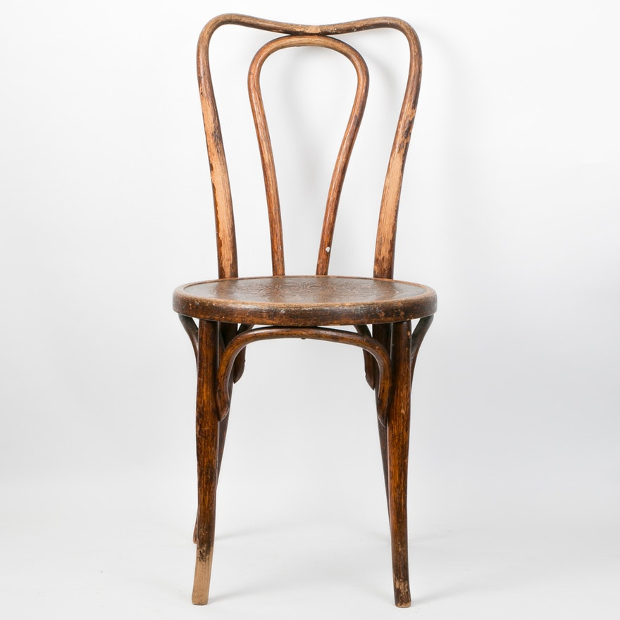 Austrian Antique Thonet Style Bentwood Chair ... - Austrian Antique Thonet Style Bentwood Chair : EBTH