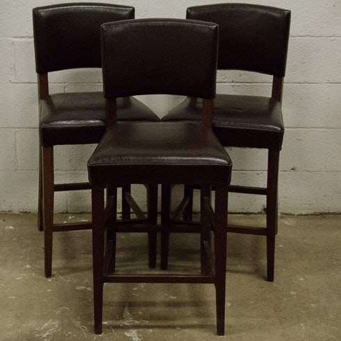 Pier One Bar Stools Pier 1 Imports Brown Leather Bar