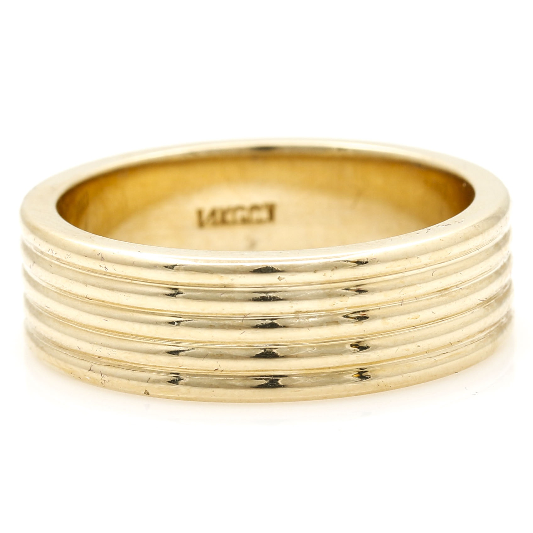 14K Yellow Gold Men's Band