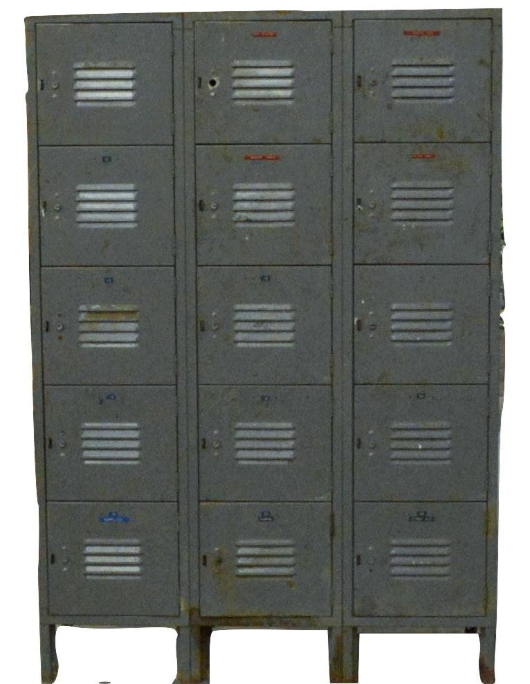 vintage industrial metal lockers