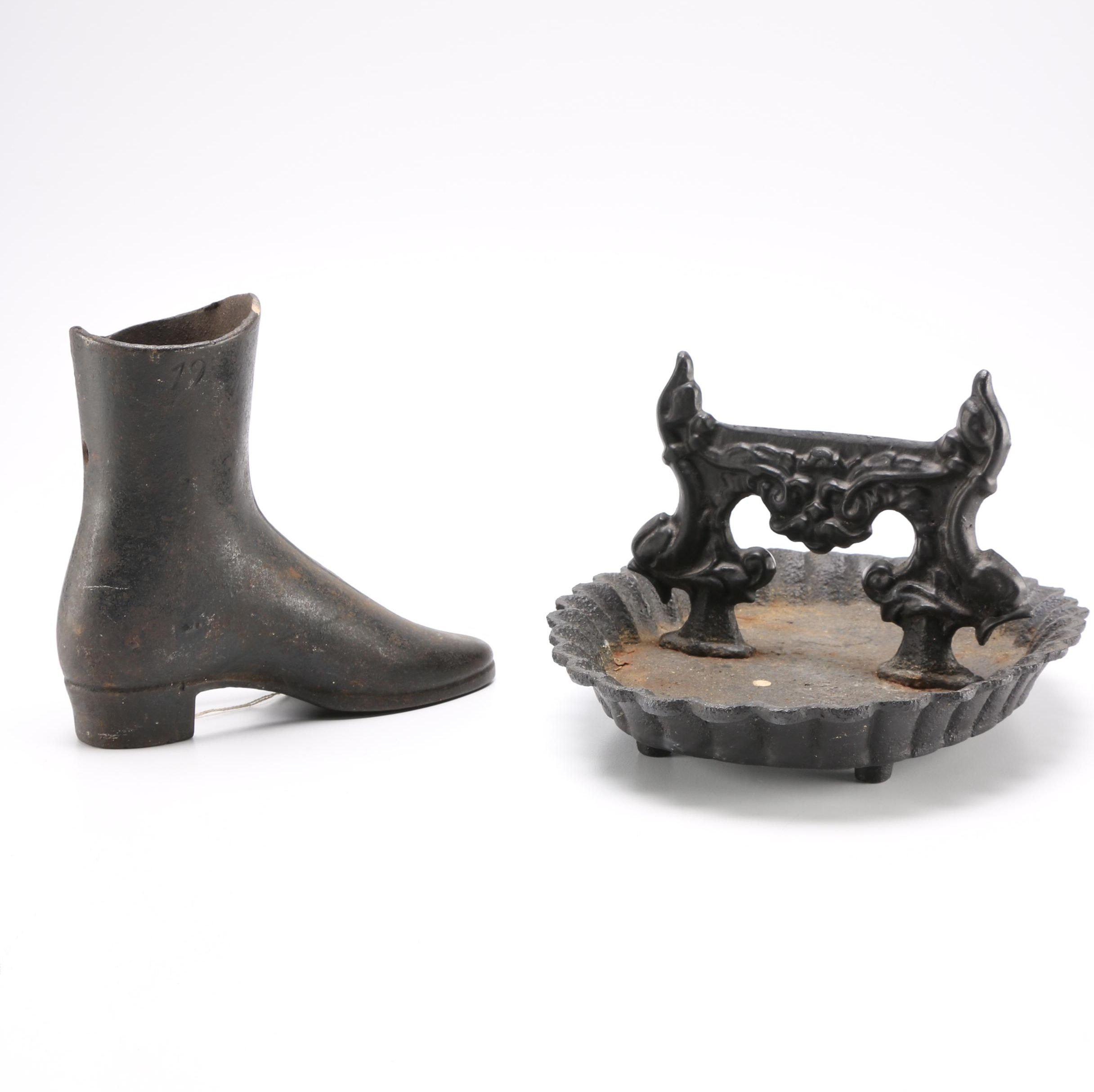 Cast Iron Boot and Boot Scraper