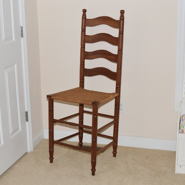 Maple Ladderback Chair with Woven Seat