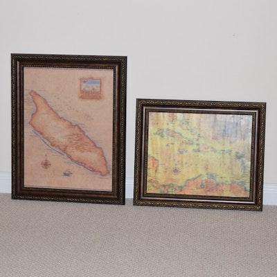 Vintage Maps For Sale Antique Maps For Sale Framed Map Auction - Decorative maps for sale