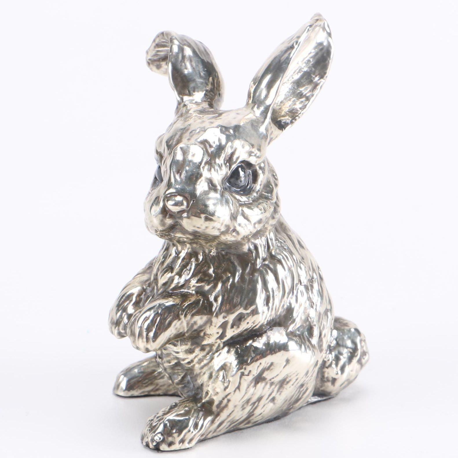 D'Argenta Internacional Silver Plate Bunny