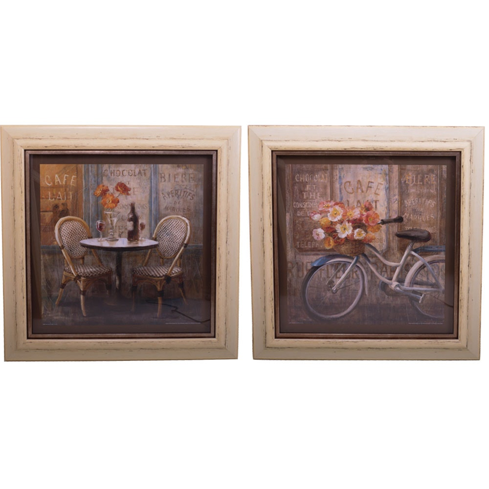Danhui Nai French Cafe Offset Lithographic Prints