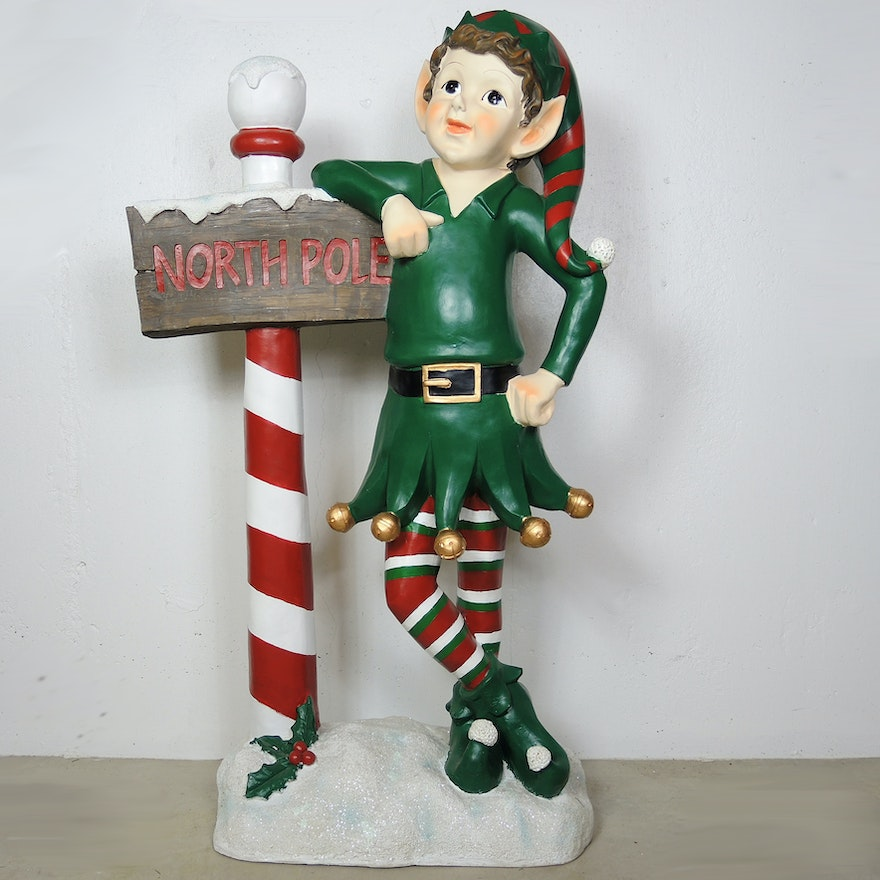 north pole elf outdoor christmas yard decor - Elf Outdoor Christmas Decorations