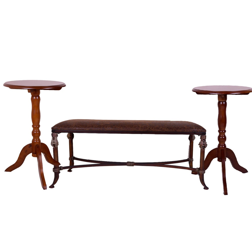Accent Tables and Bench
