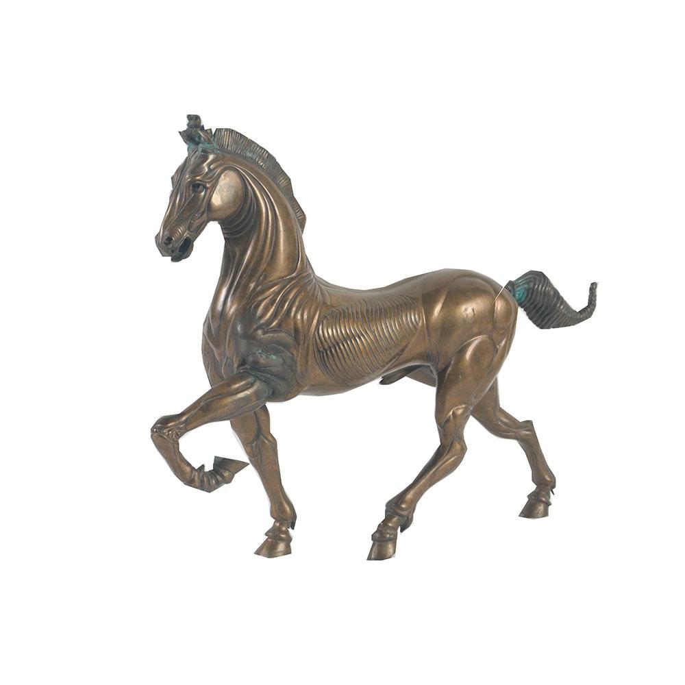 Ludovico de Luigi Cast Limited Edition Bronze Stallion