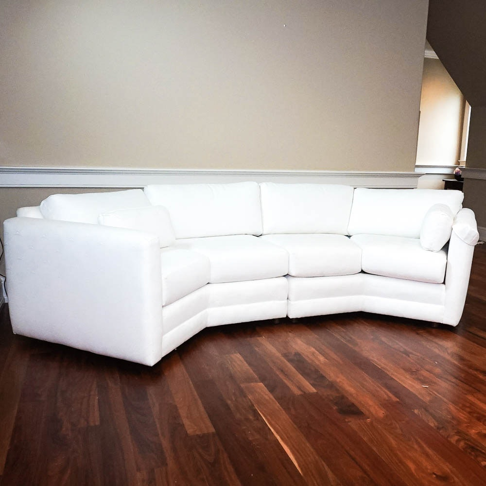White Sectional Sofa by Norwalk Furniture
