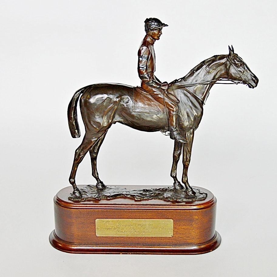 "Edwina Emery Equestrian Bronze Titled ""Iroquois"""