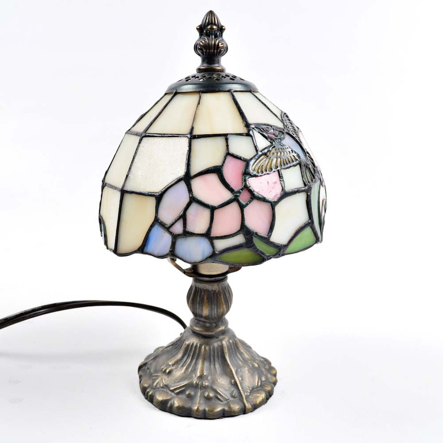 Small Tiffany Style Hummingbird Lamp