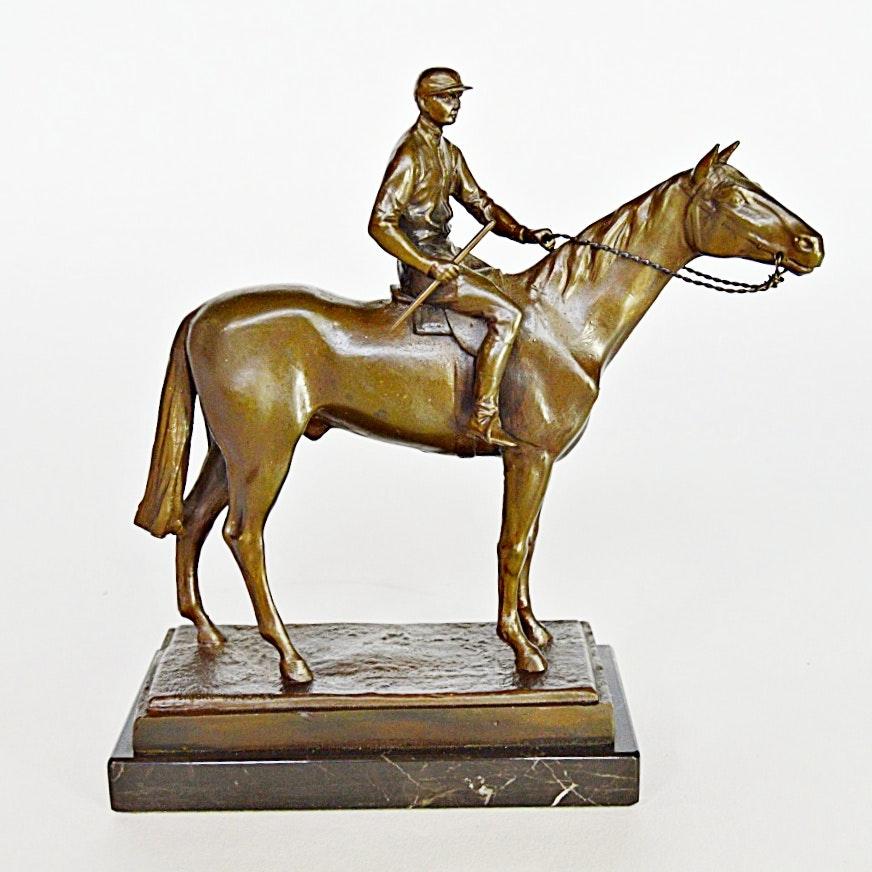 After Isidore Bonheur Equestrian Bronze