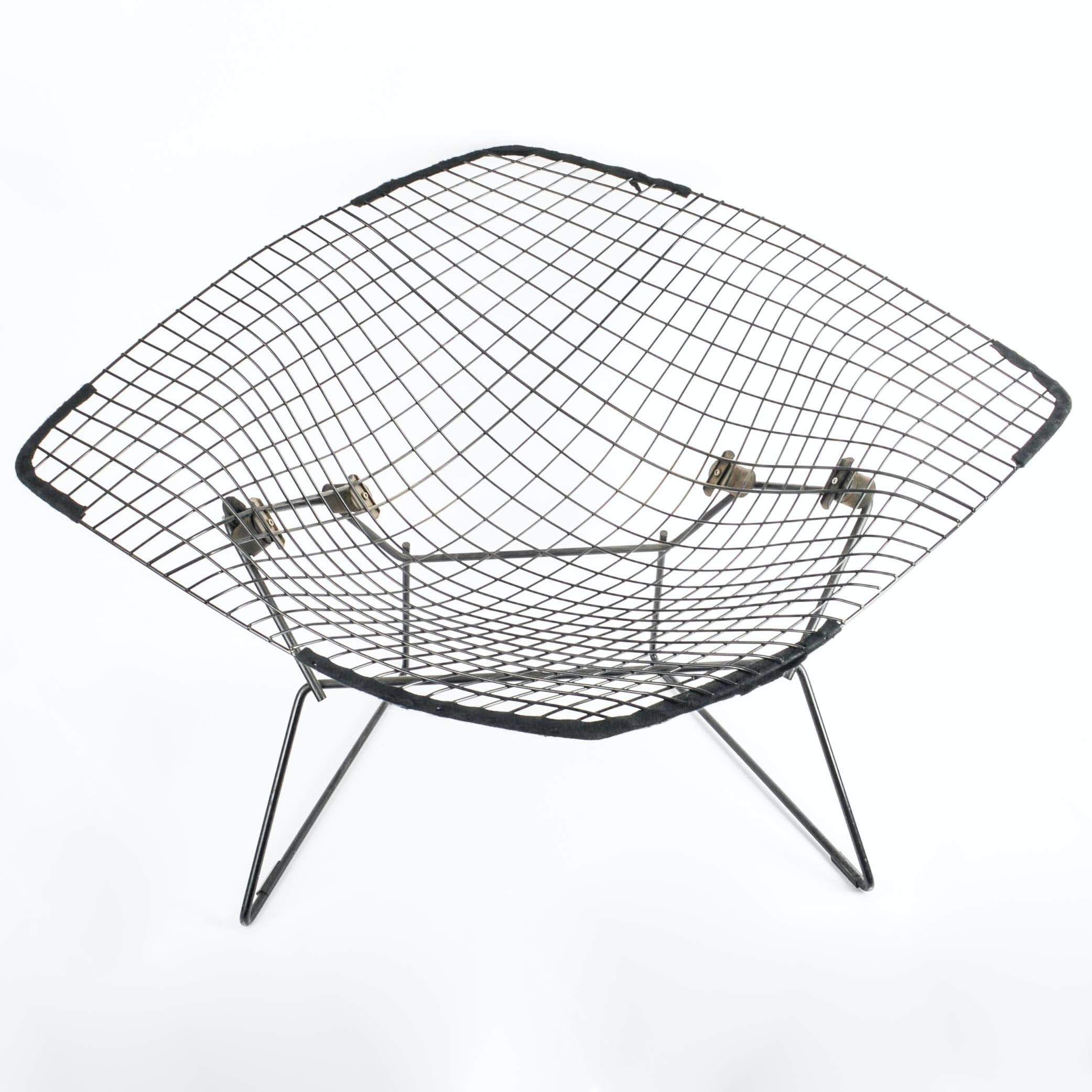 Original Harry Bertoia for Knoll International Large Diamond Chair With Cover