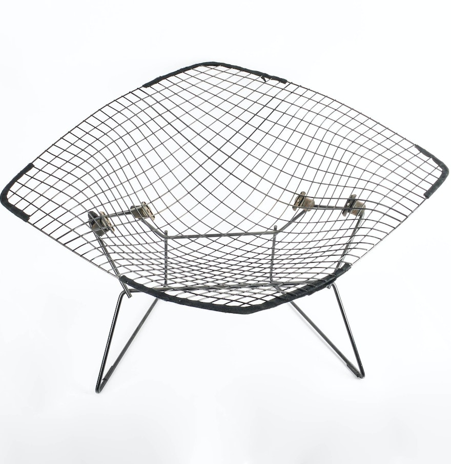 Bertoia diamond chair dimensions - Original Harry Bertoia For Knoll International Large Diamond Chair With Cover