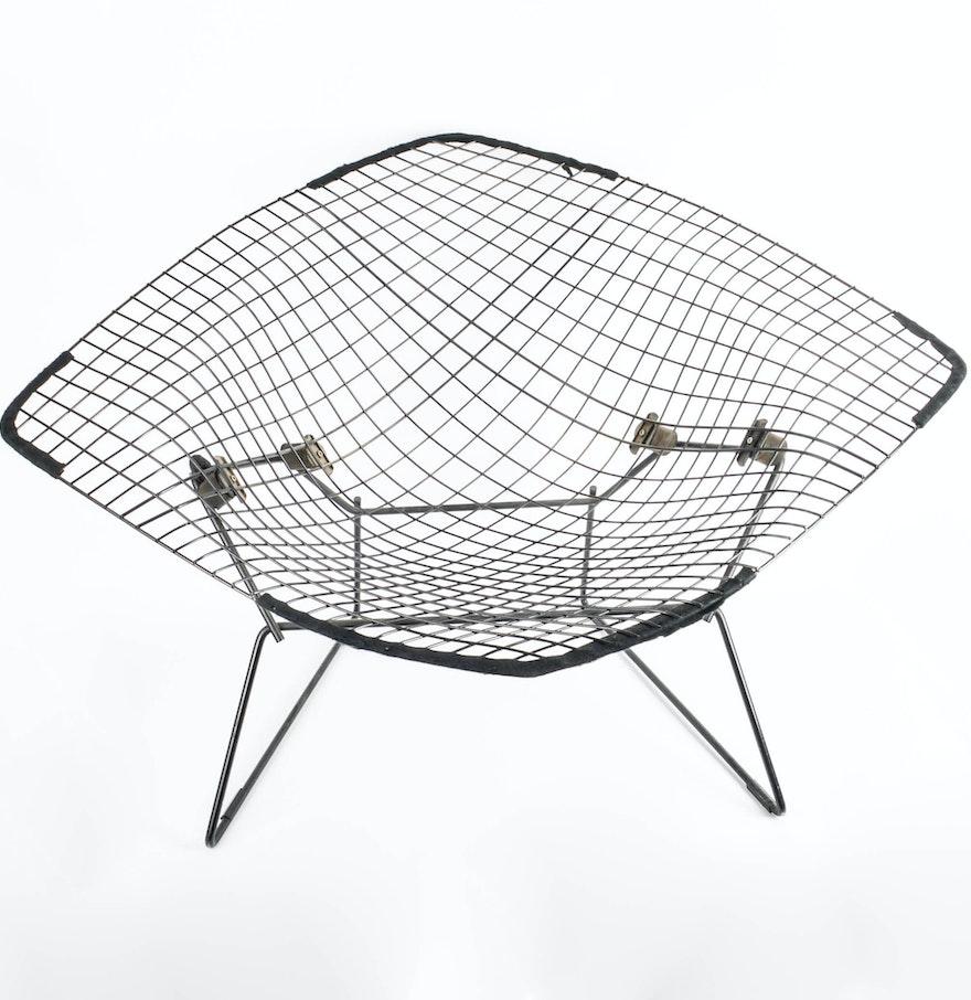 Bertoia diamond chair dimensions - Original Harry Bertoia For Knoll International Large Diamond Chair With Cover