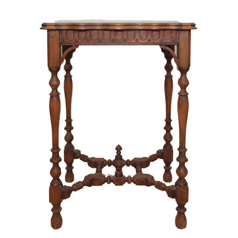 Antique Victorian Carved Side Table
