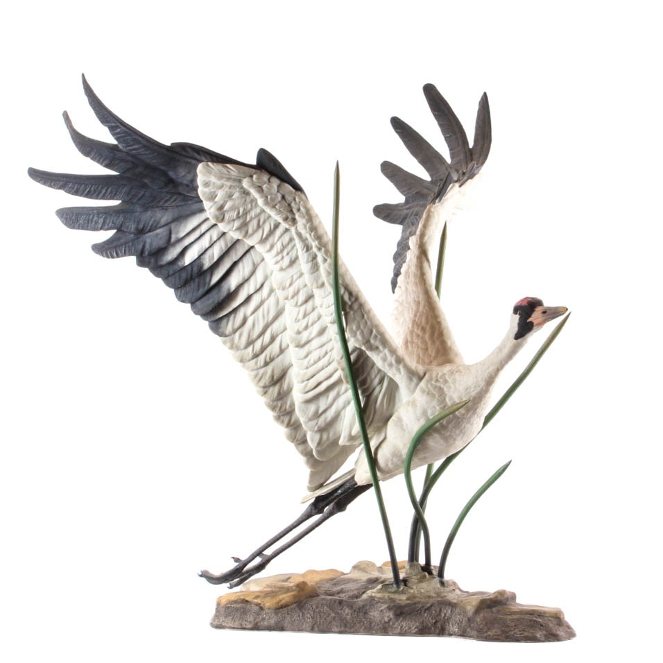 "Boehm Limited Edition Bisque Porcelain ""Whooping Crane"""