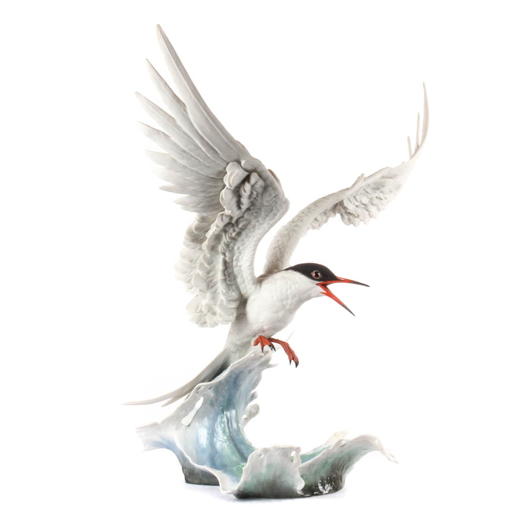 "Boehm Limited Edition Bisque Porcelain Bird ""Forster's Tern Cresting"""