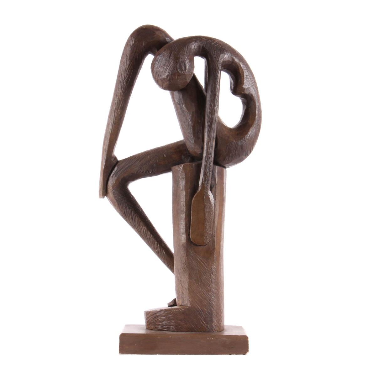 K. Silva Figurative Bronze Statue