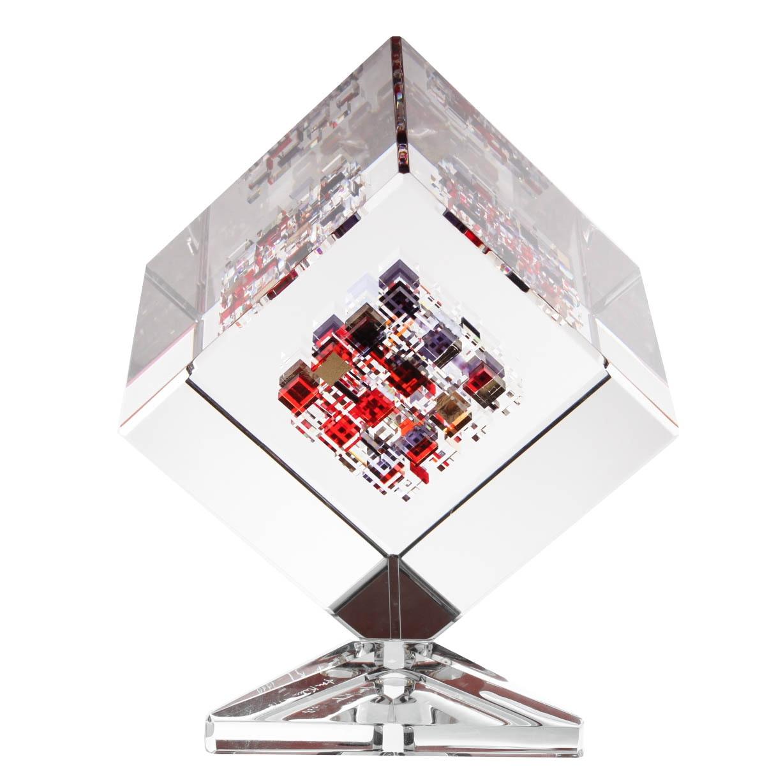 "Jon Kuhn Optical Glass Sculpture ""Chili Peppers"""