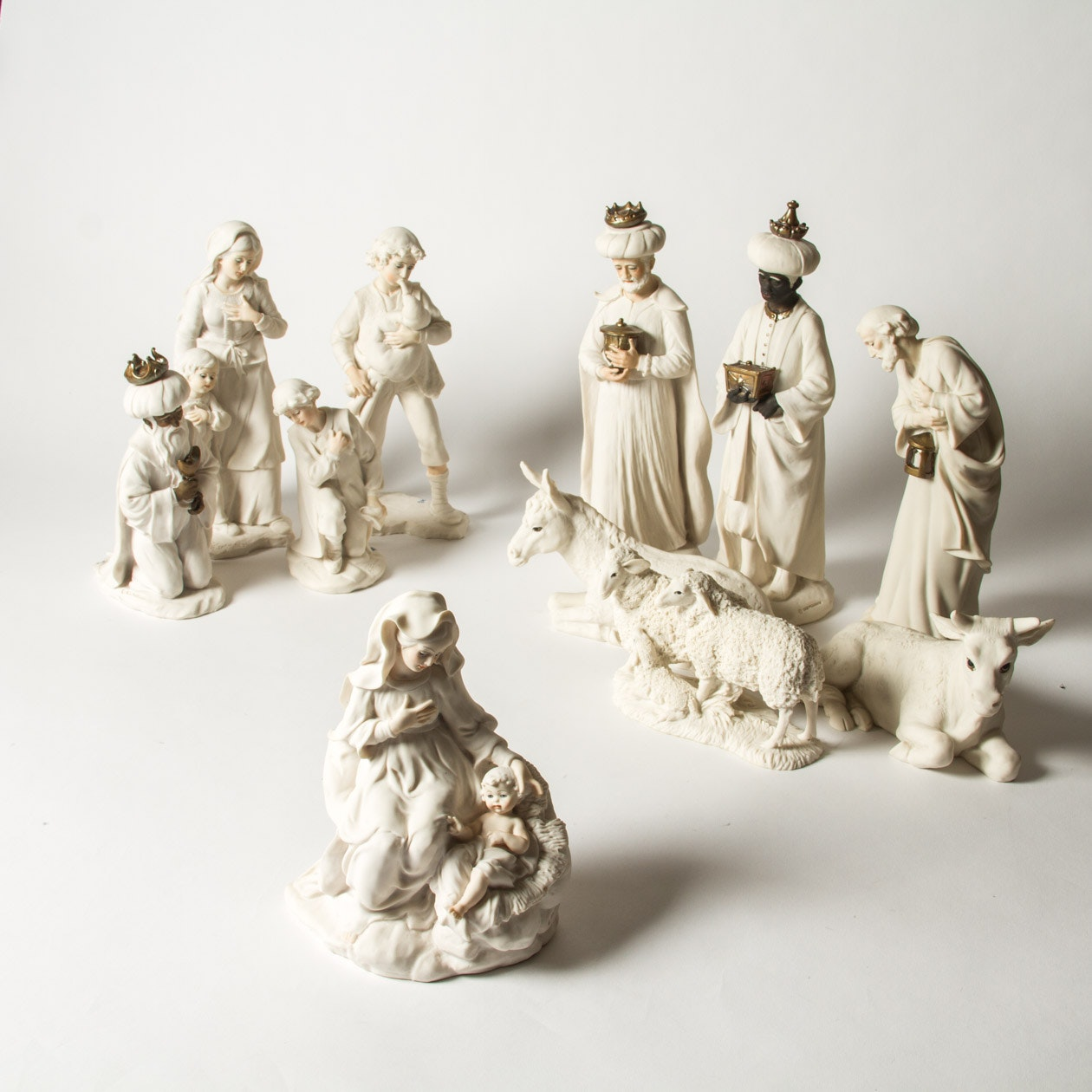 Capodimonte Porcelain Nativity Set