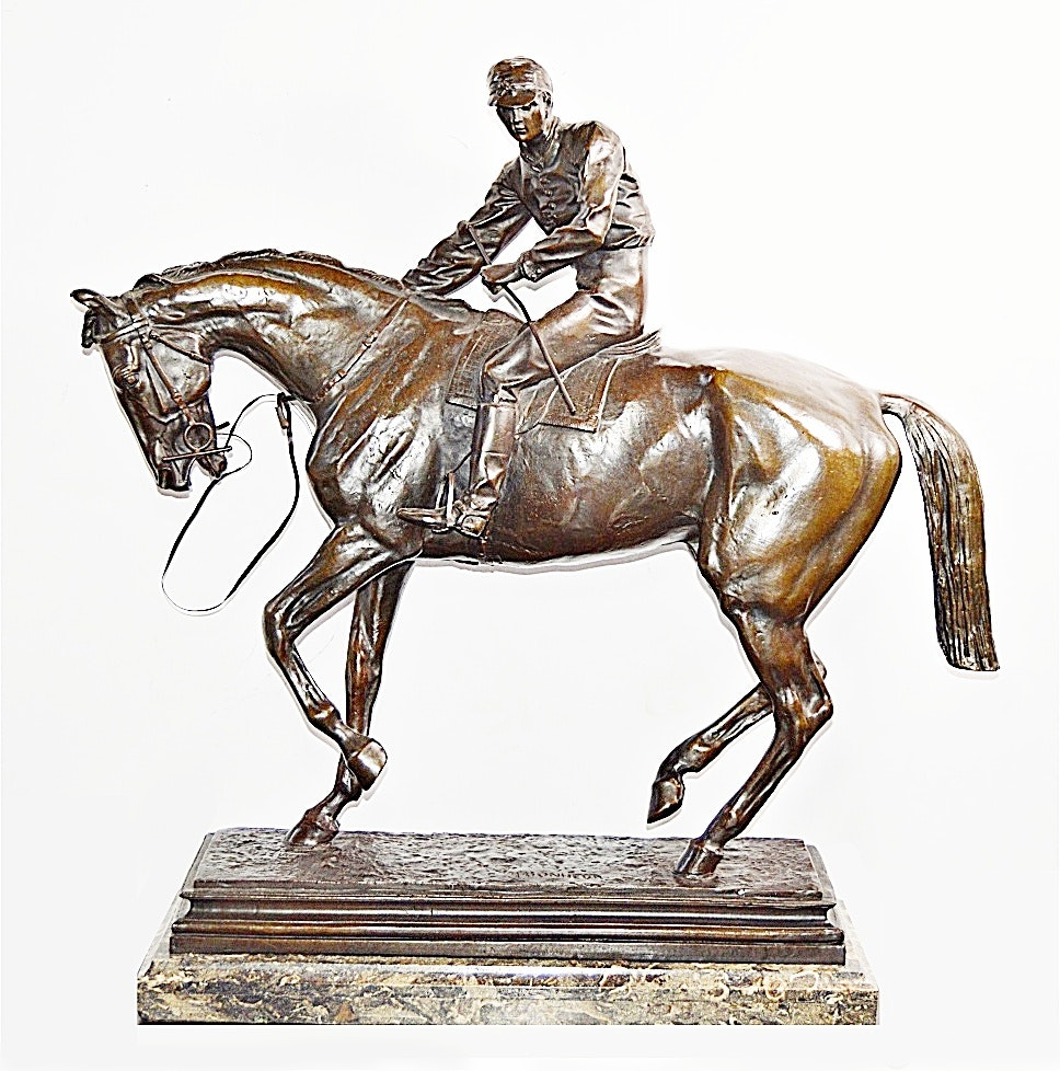 After Isidore Bonheur Large Equestrian Bronze