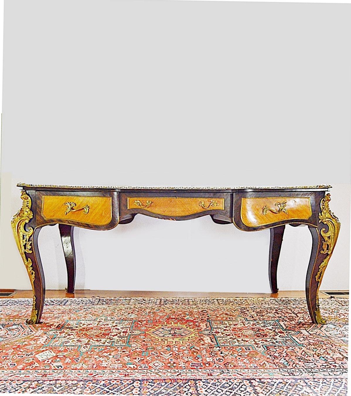Early 20th Century Louis XV Style Bureau Plat