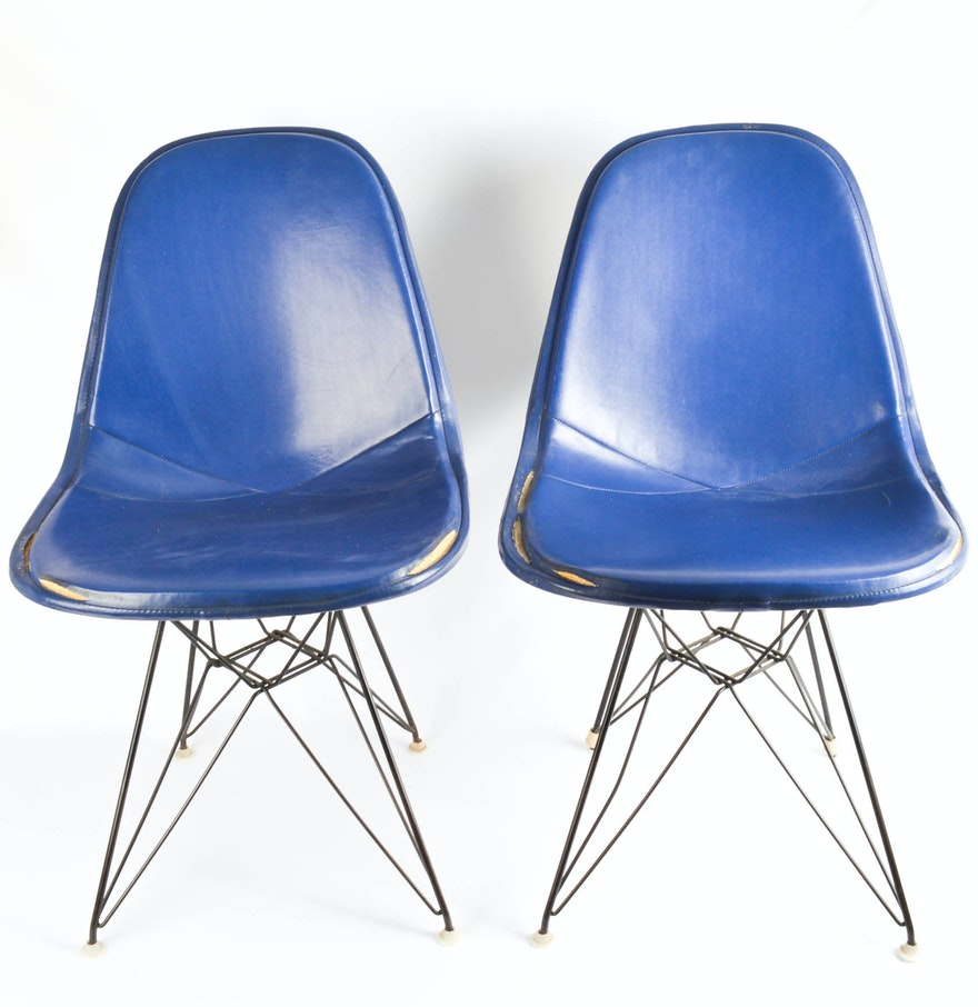 Two Original Eames For Herman Miller DKR Eiffel Wire