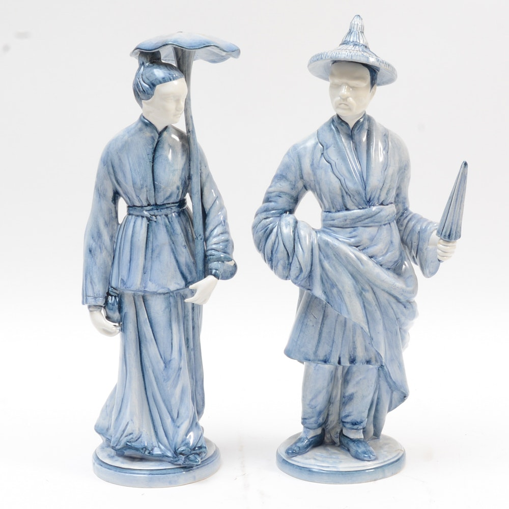 Porcelain Chinese Inspired Figurines