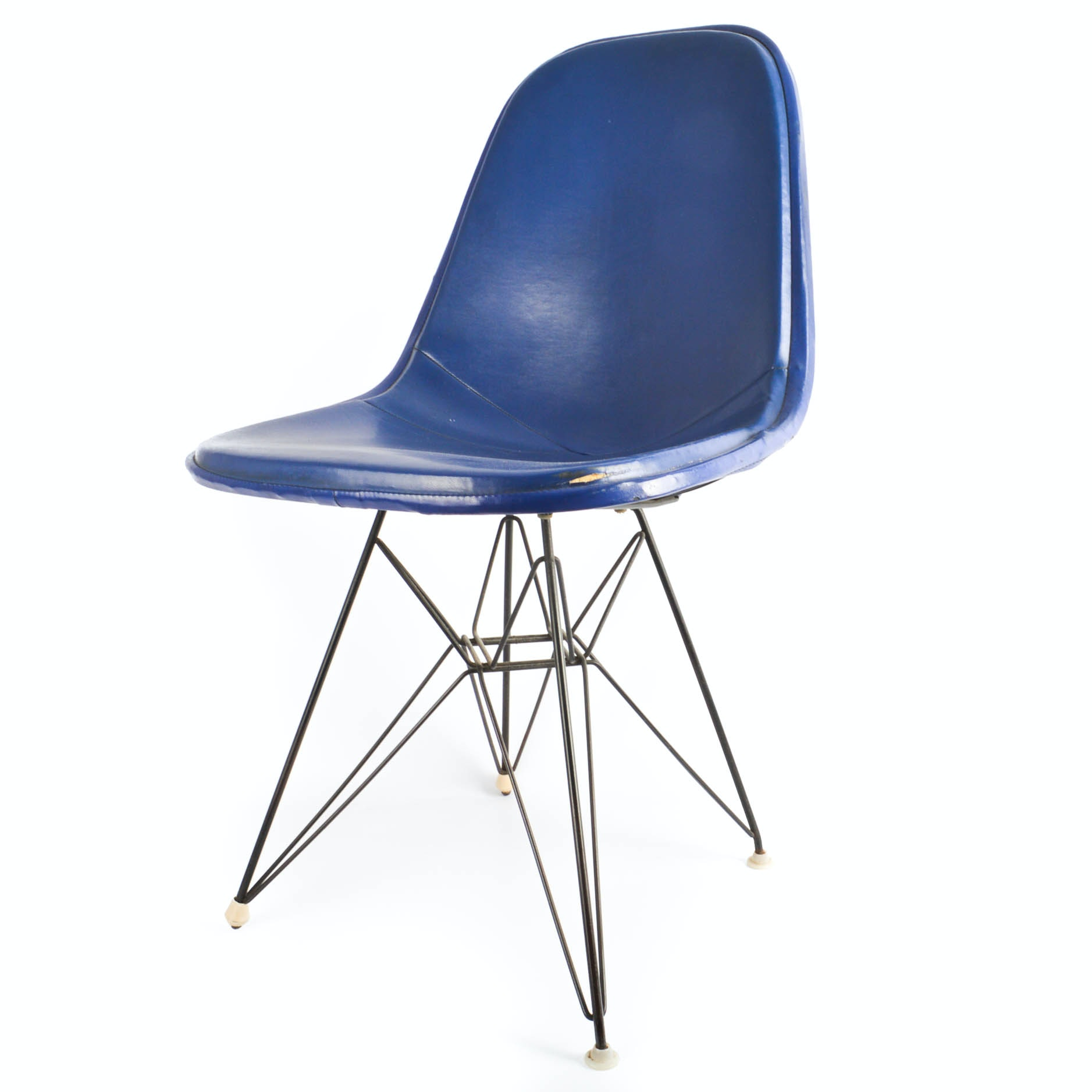 """Original Eames for Herman Miller DKR """"Eiffel"""" Wire Chair With Cover"""