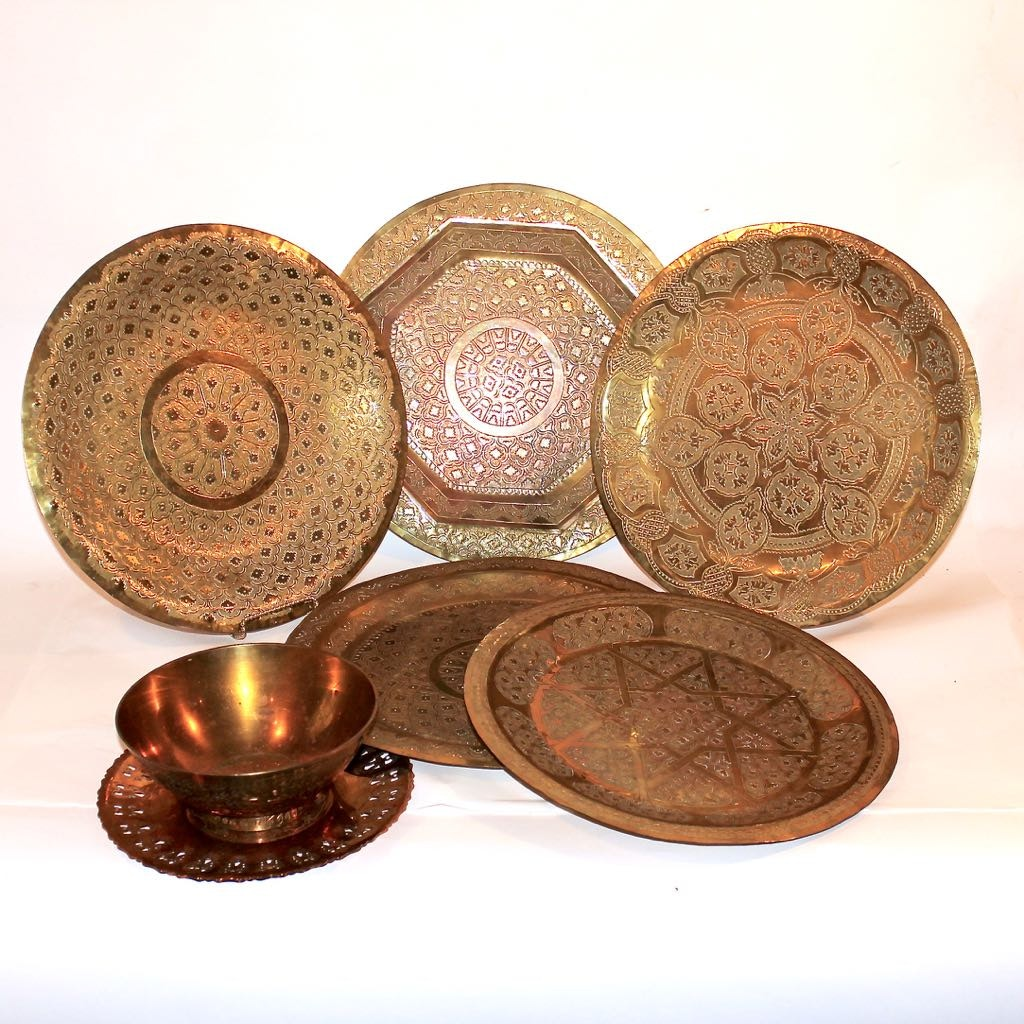 Etched Brass from Morocco & India