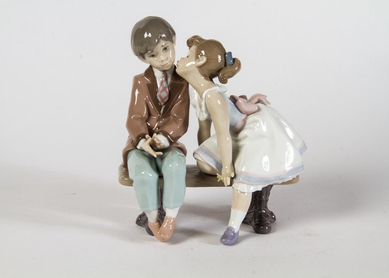 "Lladro ""Ten and Growing"" Porcelain Figurine"