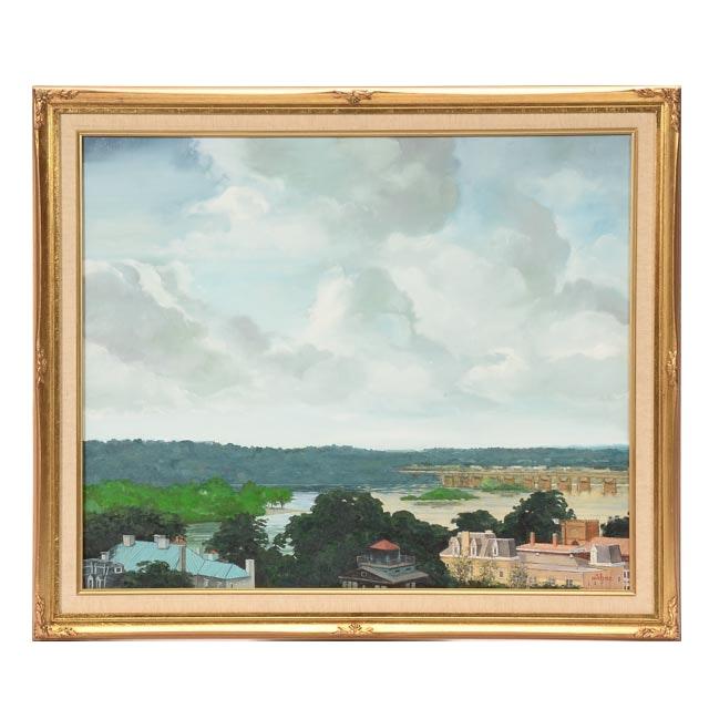 "Tom Lohre Oil Painting on Canvas ""Harrisburg, Pennsylvania"""