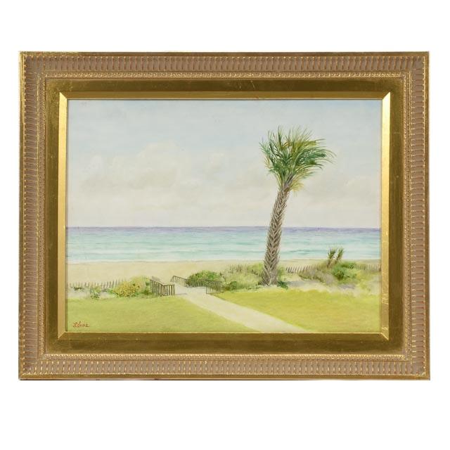 "Tom Lohre Original 2011 Oil on Board ""Emerald Isle"""
