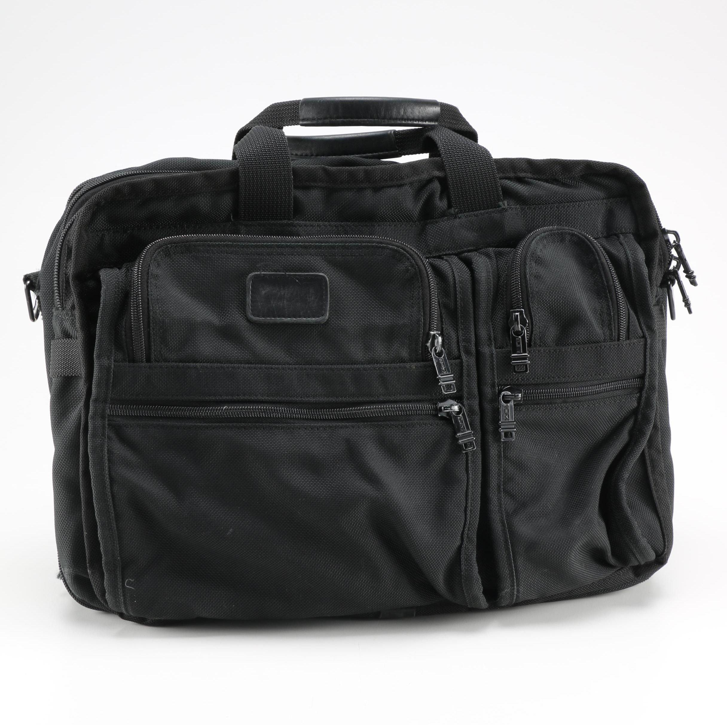 Black Tumi Laptop Bag
