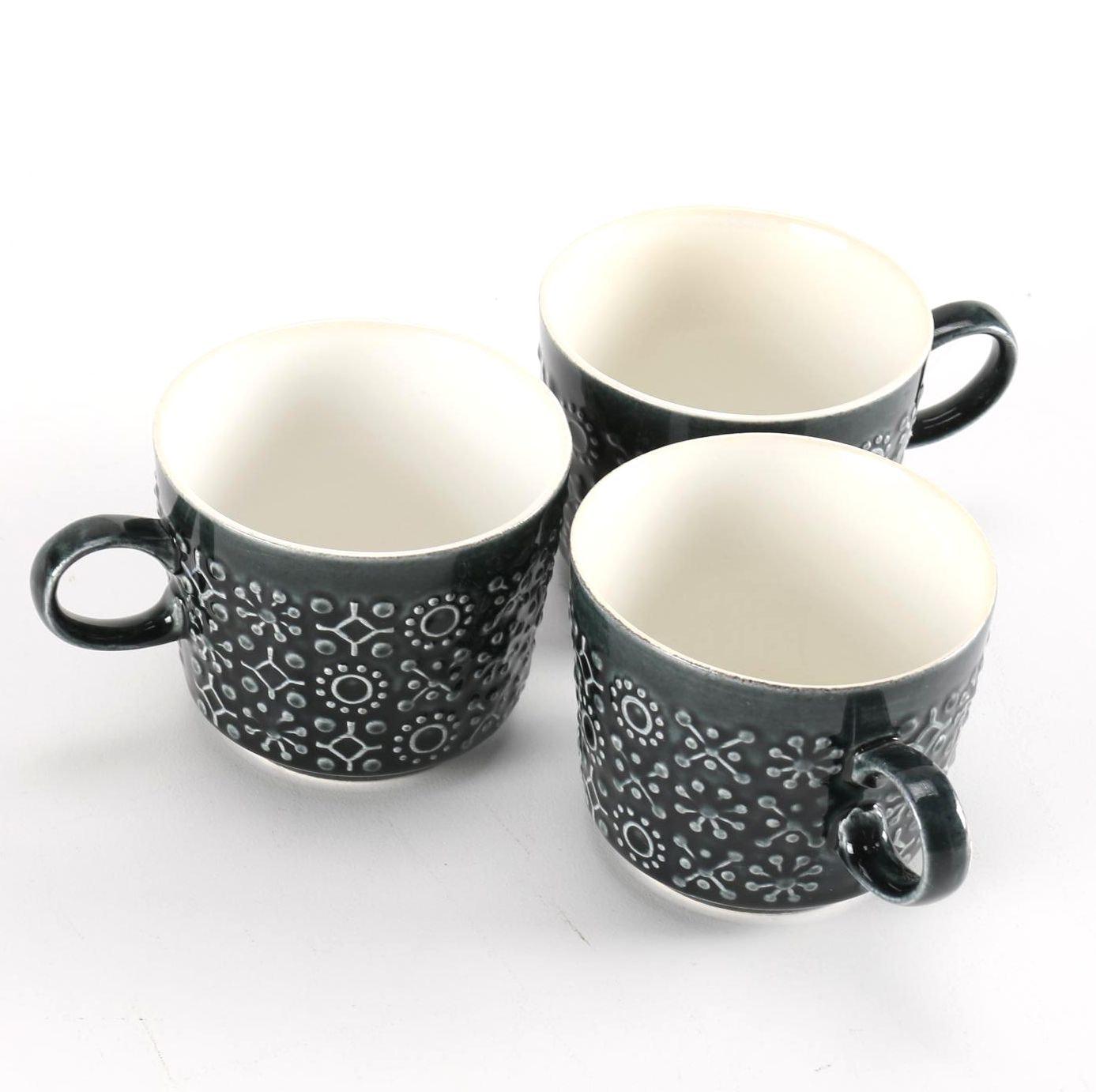 "Set of Three Irish ""Celtic Ceramics"" Mugs"