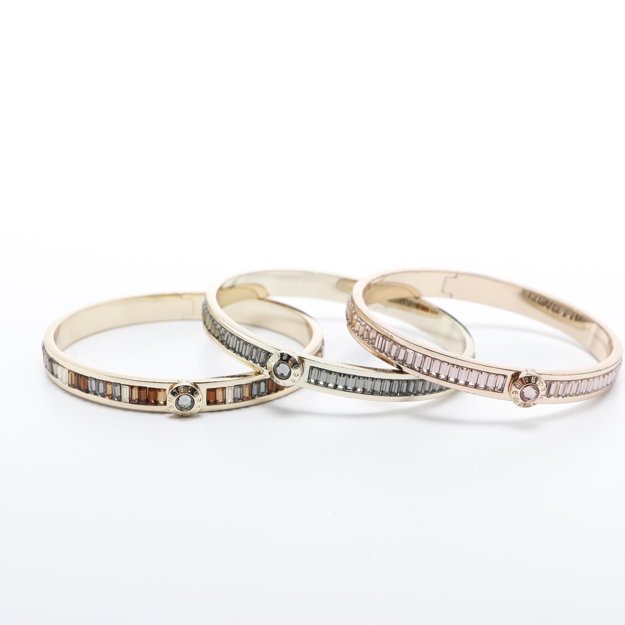 Three Henri Bendel The Harry Bangle Bracelets Ebth