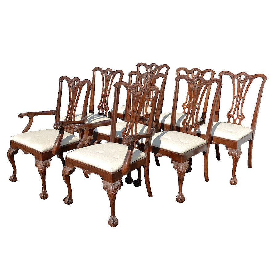 Astonishing Henredon Chippendale Style Mahogany Dining Chairs Inzonedesignstudio Interior Chair Design Inzonedesignstudiocom