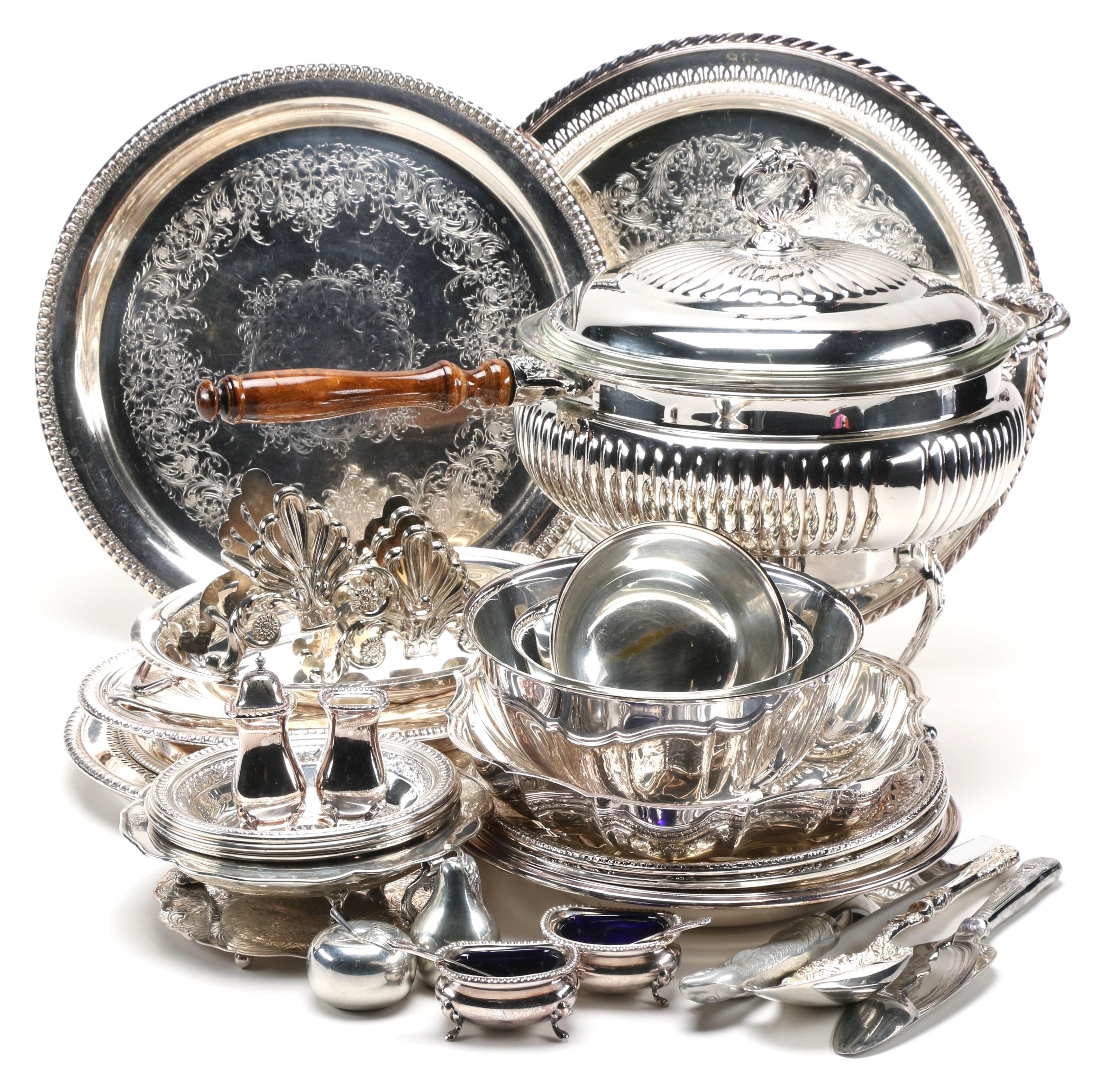 Silver Plate Servingware Featuring Reed & Barton