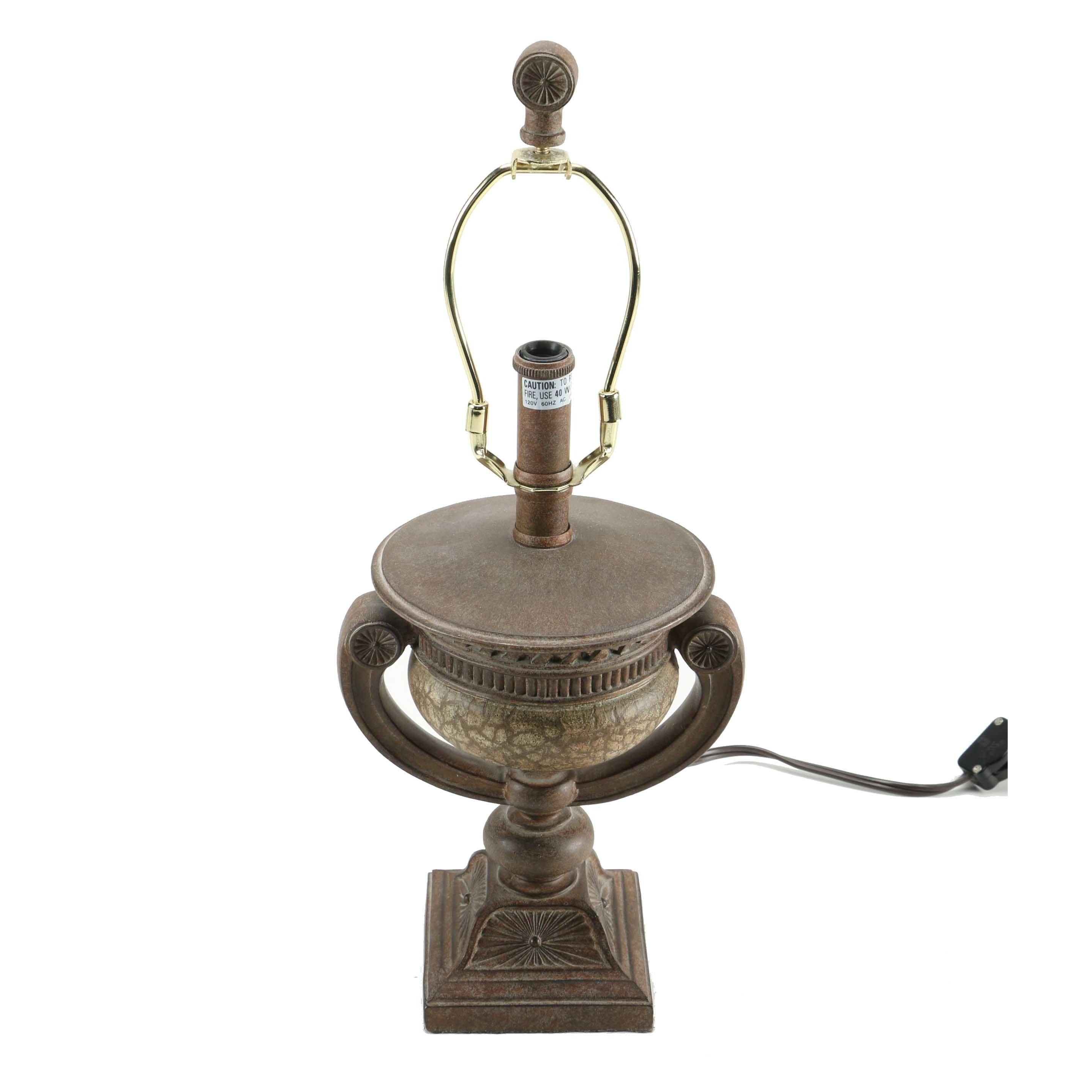 Pedestal Urn Plaster Table Lamp