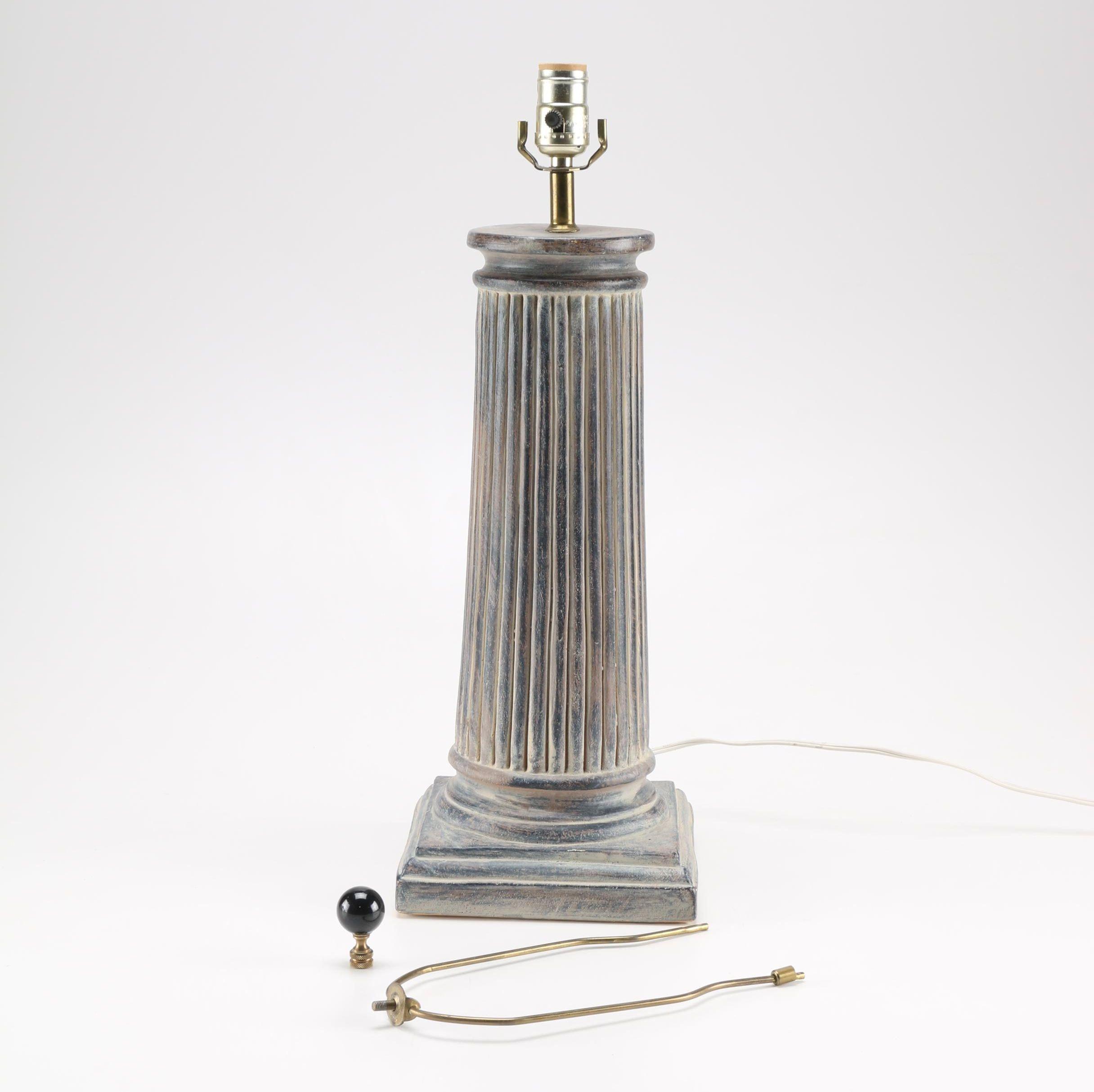 Column Style Table Lamp