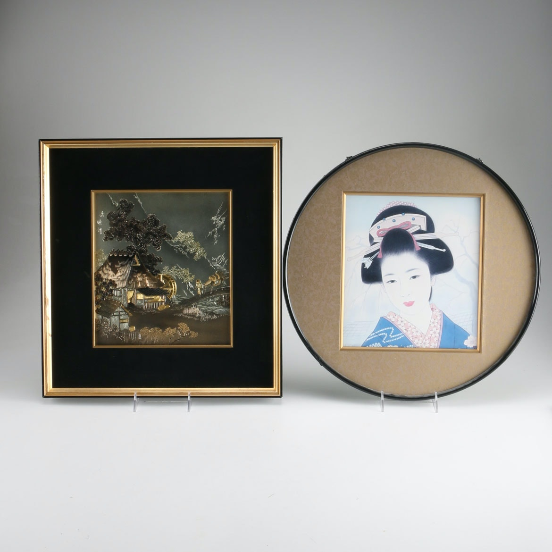 Framed Japanese Art Pieces