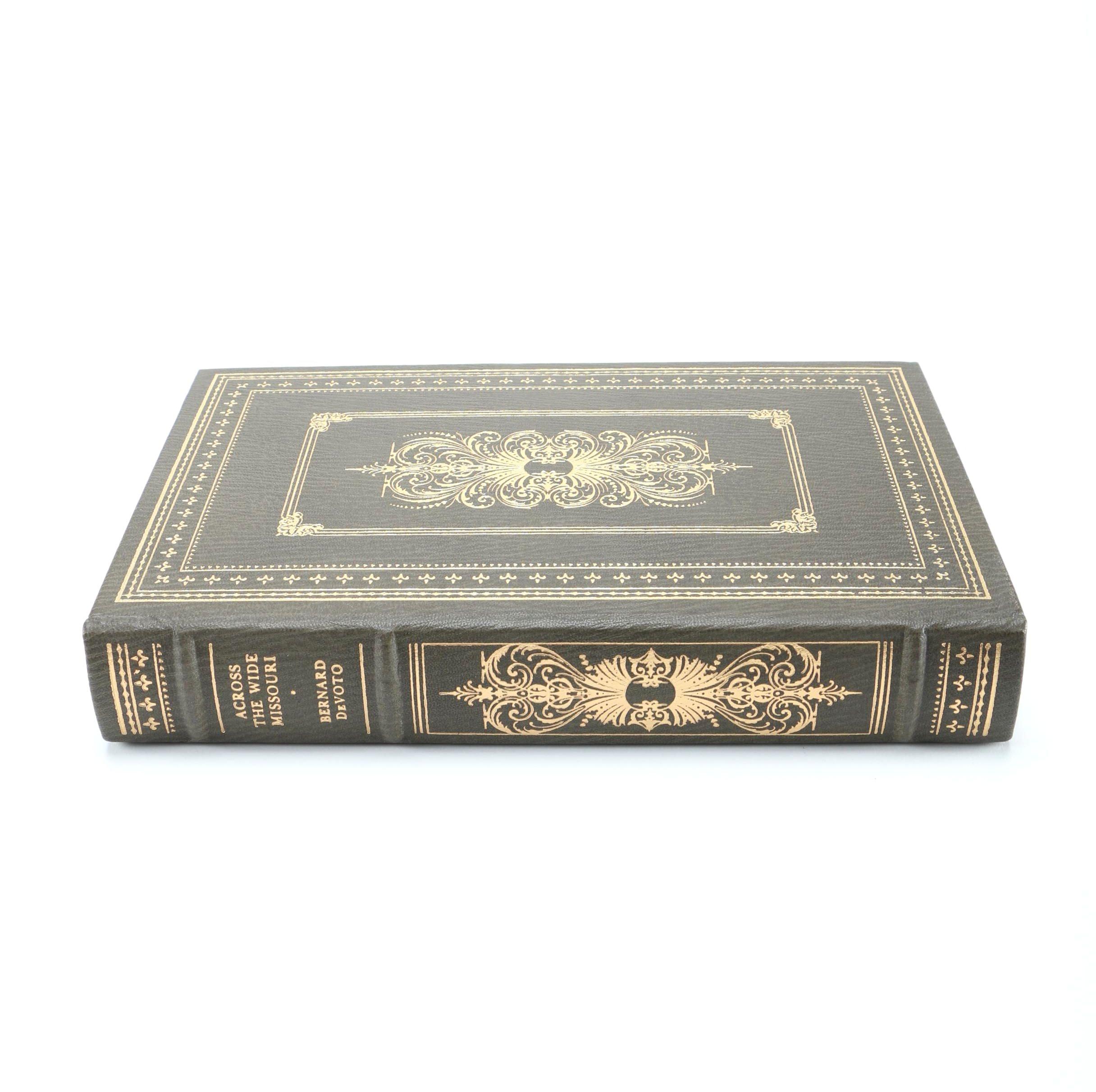 "Franklin Library Edition of ""Across the Wide Missouri"" by Bernard DeVoto"